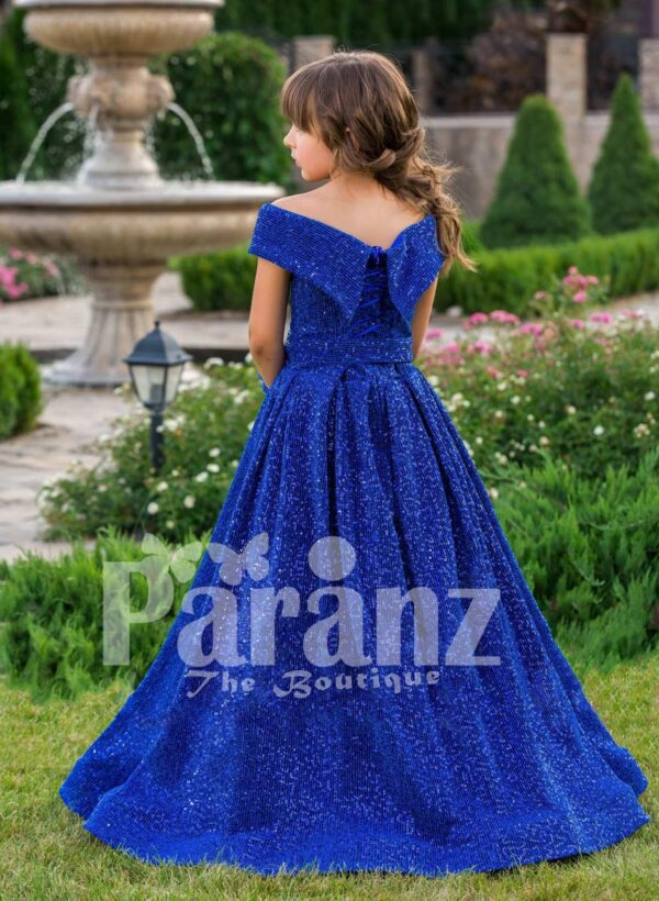 Let your daughter celebrate life with this true-blue formal party wear back side view