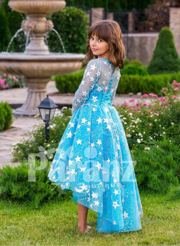 The standalone party dress for little maids side view