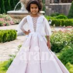 The white dress for little bridesmaids and other formal gatherings